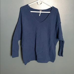 Free People navy sweater